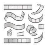 Комплект рамки фильма скольжения, крен фильма 35mm средства Стоковое Изображение