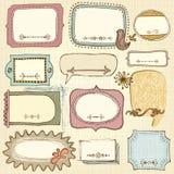 Комплект рамки Doodle Стоковые Фотографии RF