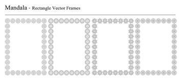 Комплект 4 рамок вектора мандалы Стоковые Изображения