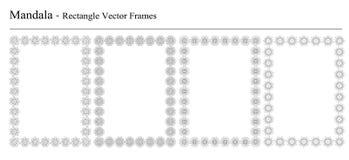 Комплект 4 рамок вектора мандалы Стоковая Фотография