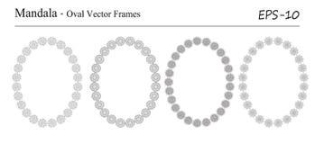 Комплект 4 рамок вектора мандалы Стоковые Фотографии RF