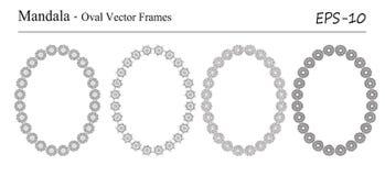 Комплект 4 рамок вектора мандалы Стоковые Фото
