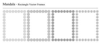 Комплект 4 рамок вектора мандалы Стоковое фото RF