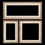 Комплект рамок крупного плана деревянных винтажных с пустым пространством для твоего Стоковое Изображение RF