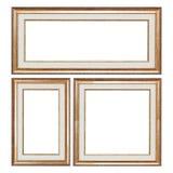 Комплект рамок крупного плана деревянных винтажных с пустым пространством для твоего Стоковая Фотография