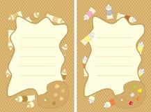Комплект рамок с красками и палитрой масла Стоковая Фотография RF