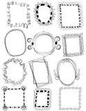 Комплект рамок Doodle без заполнения стоковое фото