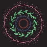 Комплект рамок doodle круглых Стоковое Фото