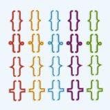 Комплект расчалок или значка курчавых кронштейнов вектор Стоковое Изображение