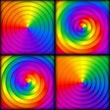 Комплект радиальных предпосылок градиента радуги Стоковое Изображение
