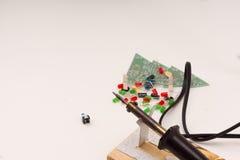 Комплект радио-электронных деталей Стоковое фото RF