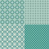 Комплект ретро абстрактной безшовной предпосылки с сказочным Стоковые Изображения RF