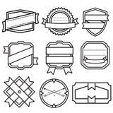 Комплект ретро винтажных значков, лент и ярлыков Стоковое Изображение