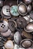 Комплект ретро железных кнопок стоковые изображения