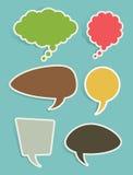 Комплект речи и пузырей или воздушных шаров мысли иллюстрация вектора
