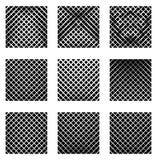 Комплект 9 решеток, сеток Комплект monochrome элементов, предпосылки, Стоковые Изображения