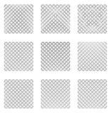 Комплект 9 решеток, сеток Комплект monochrome элементов, предпосылки, Стоковая Фотография RF