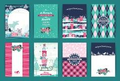 Комплект рождества и Нового Года иллюстрация вектора