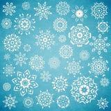 Комплект рождества снежинок Стоковое Изображение