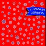 Комплект рождества снежинок Стоковые Изображения RF