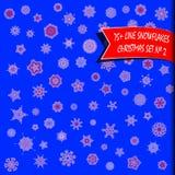 Комплект рождества снежинок Стоковое Изображение RF