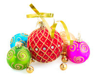 комплект рождества шариков Стоковое Фото