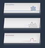 Комплект рождественских открыток. Стоковое Изображение