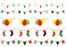 Комплект рождественской вечеринки щетки 5 картин Стоковое Изображение RF