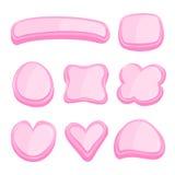 Комплект розовой рамки в стиле рук-притяжки Стоковые Фотографии RF