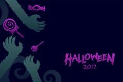 Комплект 2017, рука шаблона предпосылки хеллоуина изверга оборотней Стоковое Фото