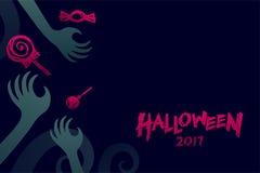 Комплект 2017, рука шаблона предпосылки хеллоуина изверга дьявола Стоковое Изображение RF
