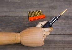 Комплект руки и отвертки Стоковое Изображение