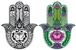 Комплект руки Hamsa Стоковое Изображение