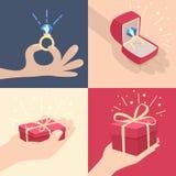 Комплект рук с подарками Стоковые Изображения RF
