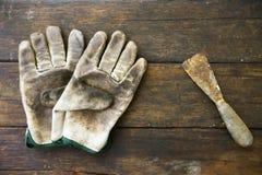 Комплект ручных резцов или инструменты работы предпосылка комплекта, инструменты в работе индустрии для общей работы или трудная  Стоковые Фото