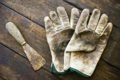 Комплект ручных резцов или инструменты работы предпосылка комплекта, инструменты в работе индустрии для общей работы или трудная  Стоковое Изображение