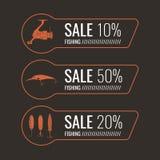 Комплект рыболовных снастей иллюстраций для продажи Стоковые Фото
