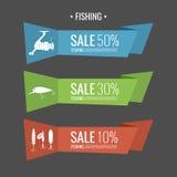 Комплект рыболовных снастей иллюстраций для продажи Стоковое Фото