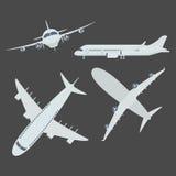Комплект самолета воздушных судн иллюстрация вектора