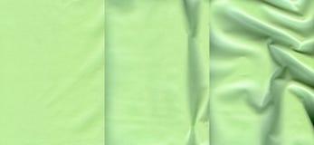 Комплект салатовых кожаных текстур Стоковое Изображение