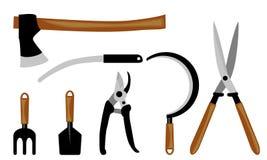 Комплект садовых инструментов иллюстрация штока