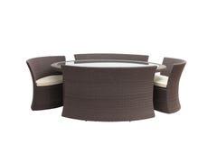 Комплект салона Брайна плетеный Стоковое Изображение RF