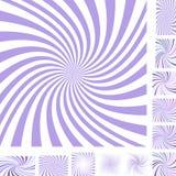 Комплект света - фиолетовый и белый спиральный предпосылки Стоковое фото RF