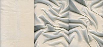 Комплект светлых текстур кожи замши Стоковое Изображение RF