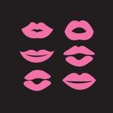 Комплект сексуальных губ женщины Стоковое Фото