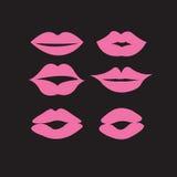 Комплект сексуальных губ женщины Стоковое Изображение RF