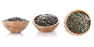 Комплект семян тыквы Стоковая Фотография