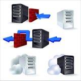 Комплект сервера значков Стоковые Изображения RF