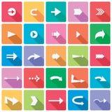 комплект серии зеленой иконы стрелки красный Стоковые Фотографии RF