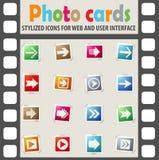 комплект серии зеленой иконы стрелки красный Стоковая Фотография RF